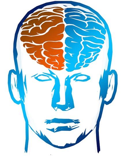 Gehirnhälfte synchronisieren