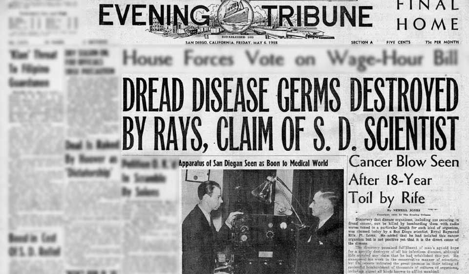 Dr. Rife Zeitungsbericht
